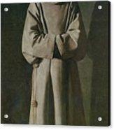 Saint Francis Acrylic Print by Francisco de Zurbaran
