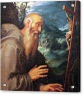 Saint Francis Acrylic Print by Munir Alawi