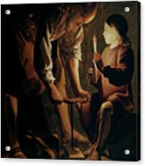 Saint Joseph The Carpenter  Acrylic Print by Georges de la Tour