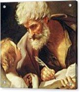 Saint Matthew Acrylic Print by Guido Reni