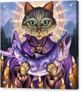 Saint Of Salmons Acrylic Print by Jeff Haynie