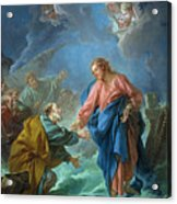 Saint Peter Invited To Walk On The Water Acrylic Print by Francois Boucher