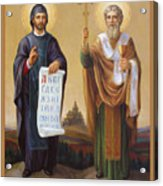 Saints Cyril And Methodius - Missionaries To The Slavs Acrylic Print by Svitozar Nenyuk