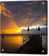 Salamander Bay Sunrise Acrylic Print by Avalon Fine Art Photography