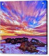 Salmon Sunrise Acrylic Print by Bill Caldwell -        ABeautifulSky Photography