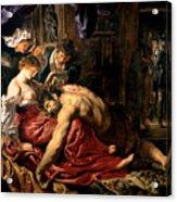 Samson And Delilah Acrylic Print by Peter Paul Rubens