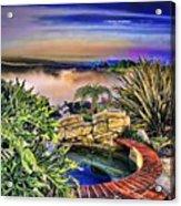 San Clemente Estate Acrylic Print by Kathy Tarochione