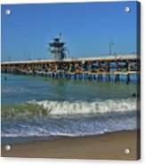 San Clemente Pier Acrylic Print by Tommy Anderson