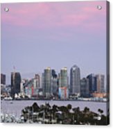 San Diego Skyline And Marina At Dusk Acrylic Print by Jeremy Woodhouse