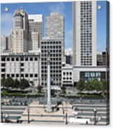 San Francisco . Union Square . 5d17938 Acrylic Print by Wingsdomain Art and Photography