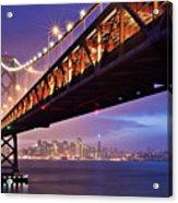 San Francisco Bay Bridge Acrylic Print by Photo by Mike Shaw