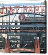 San Francisco Giants Att Park Willie Mays Entrance . 7d7635 Acrylic Print by Wingsdomain Art and Photography
