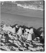 Sand Castles By The Shore Acrylic Print by Rob Hans