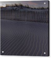 Sand Fence At Robert Moses Acrylic Print by Jim Dohms