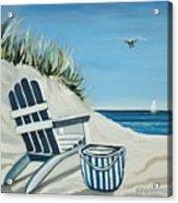 Sandy Cove Acrylic Print by Elizabeth Robinette Tyndall