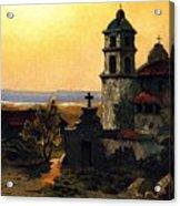 Santa Barbara Mission Acrylic Print by Pg Reproductions