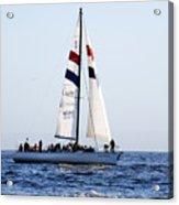 Santa Cruz Sailing Acrylic Print by Marilyn Hunt