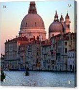 Santa Maria Della Salute On Grand Canal In Venice In Evening Light Acrylic Print by Michael Henderson