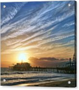 Santa Monica Pier Acrylic Print by Eddie Yerkish