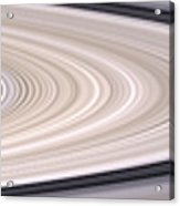 Saturns Ring System Acrylic Print by Stocktrek Images