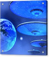 Saucers Acrylic Print by Corey Ford