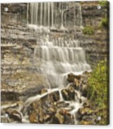 Scenic Alger Falls  Acrylic Print by Michael Peychich