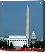 Scenic View Of Washington D.c Acrylic Print by Kenneth Garrett