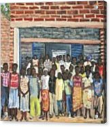 School Class Burkina Faso Series Acrylic Print by Reb Frost