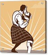 Scottish Games Acrylic Print by Aloysius Patrimonio