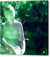 Sculpture In A Park Acrylic Print by Susanne Van Hulst
