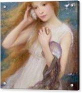 Sea Nymph Acrylic Print by William Robert Symonds