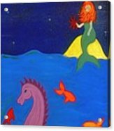 Sea Wishes Acrylic Print by Christine Crosby