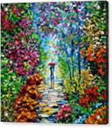 Secret Garden Oil Painting - B. Sasik Acrylic Print by Beata Sasik