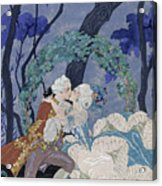 Secret Kiss Acrylic Print by Georges Barbier