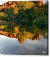 Sedona Sunset Acrylic Print by Mike  Dawson