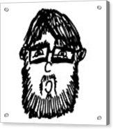 Self Comic Drawing Acrylic Print by Karl Addison