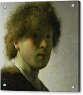 Self Portrait As A Young Man Acrylic Print by Rembrandt