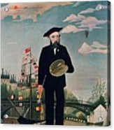 Self Portrait From Lile Saint Louis Acrylic Print by Henri Rousseau