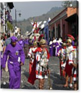 Semana Santa Procession I Acrylic Print by Kurt Van Wagner