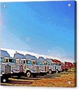 Semi Truckscape 2 Acrylic Print by Steve Ohlsen