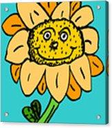 Senny The Sunflower Acrylic Print by Jera Sky