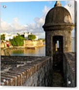 Sentry Post On Old City Wall Acrylic Print by George Oze