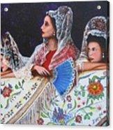 Sevilla's Ladies Acrylic Print by Jorge Parellada