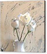 Shabbi Chic Roses Acrylic Print by Marsha Heiken