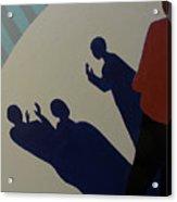 Shadow Talk Acrylic Print by Renee Kahn