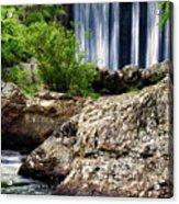 Shady Lake Falls Acrylic Print by Lana Trussell