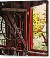 Shakers Woodshop Acrylic Print by Steve Ohlsen