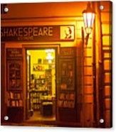 Shakespeares' Bookstore-prague Acrylic Print by John Galbo