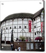 Shakespeare's Globe Theater Acrylic Print by Charles  Ridgway