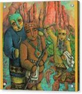 Shamans Of Sedona  Acrylic Print by Janice Hightower